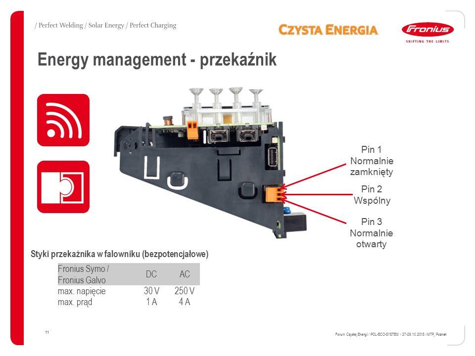 Energy management - przekaźnik