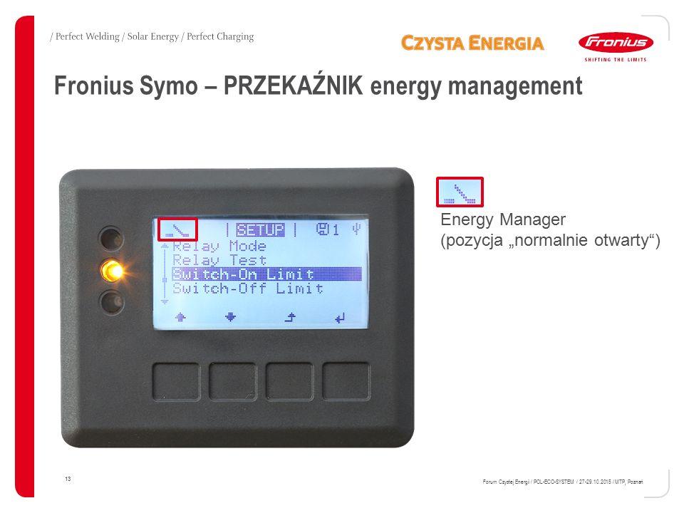 Fronius Symo – PRZEKAŹNIK energy management