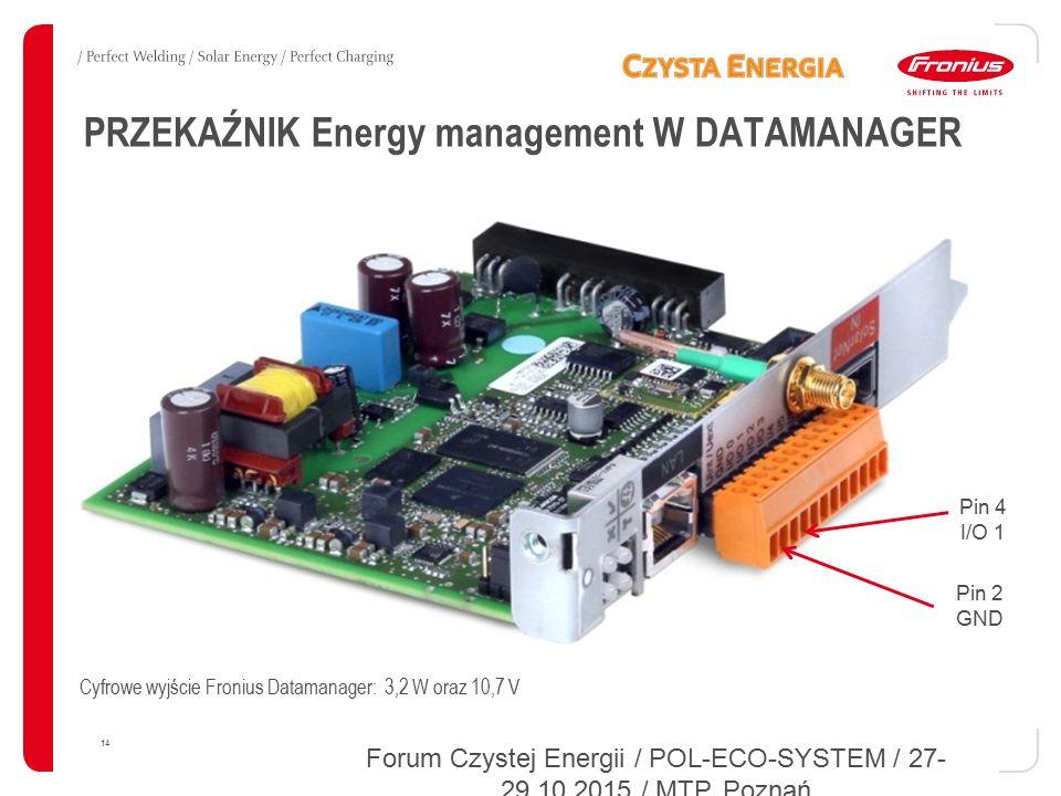 PRZEKAŹNIK Energy management W DATAMANAGER