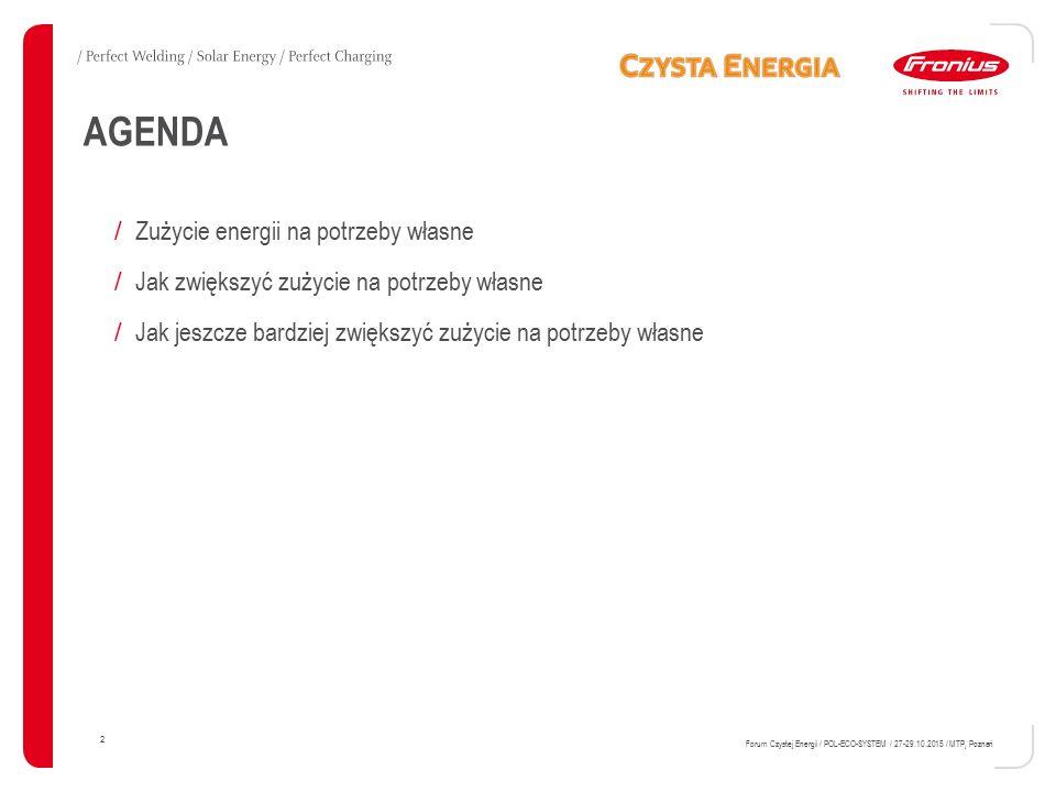 AGENDA Zużycie energii na potrzeby własne