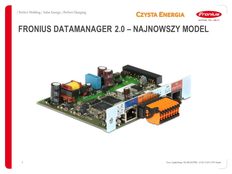 FRONIUS DATAMANAGER 2.0 – NAJNOWSZY MODEL