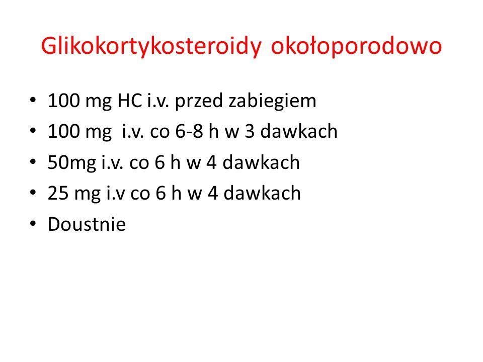 Glikokortykosteroidy okołoporodowo
