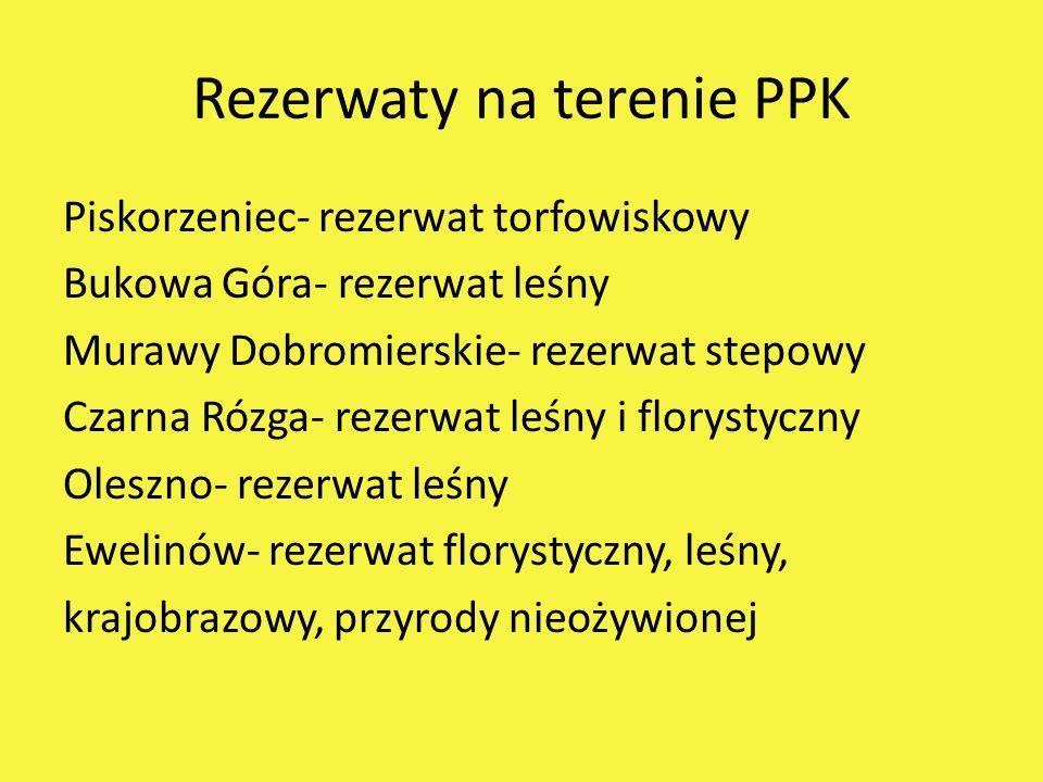 Rezerwaty na terenie PPK