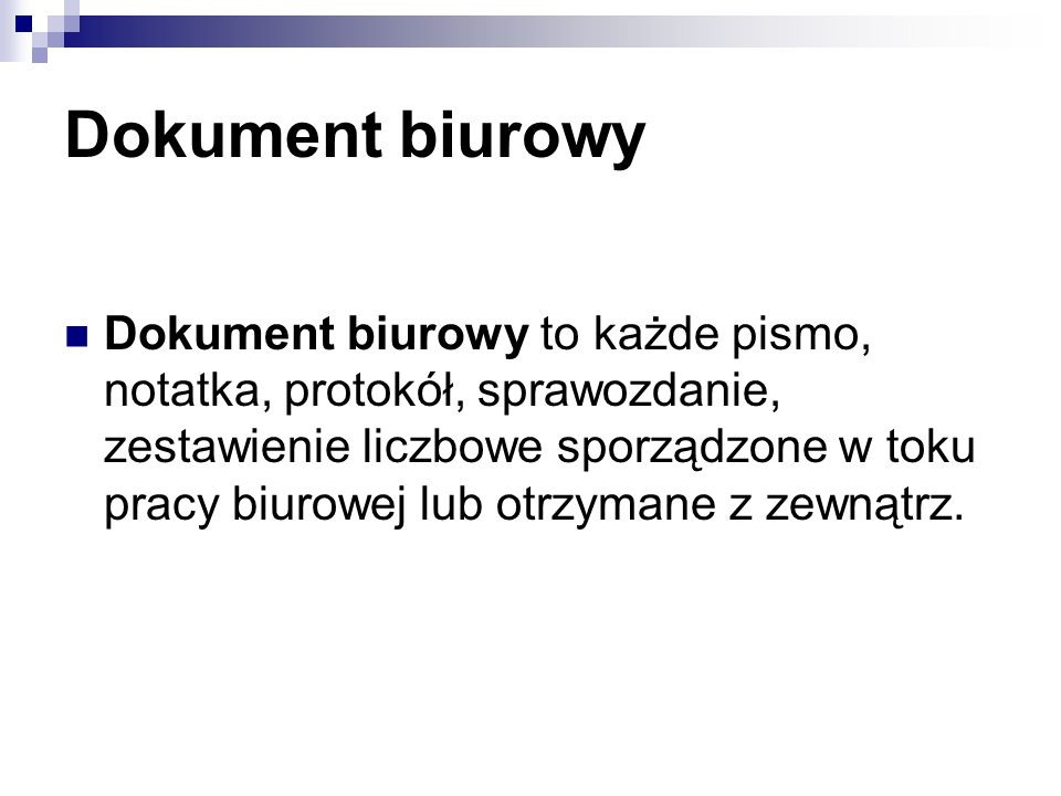Dokument biurowy