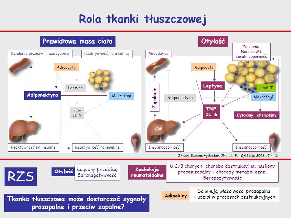 RZS Rola tkanki tłuszczowej Prawidłowa masa ciała Otyłość