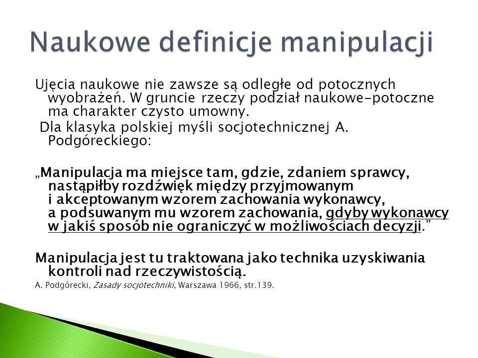 Naukowe definicje manipulacji