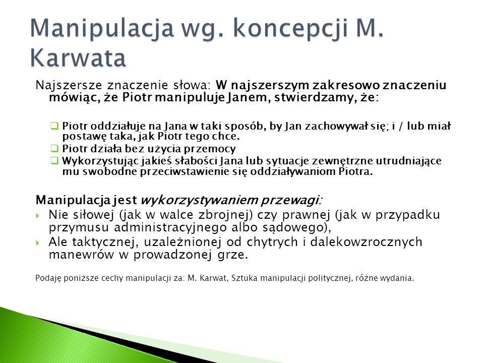 Manipulacja wg. koncepcji M. Karwata