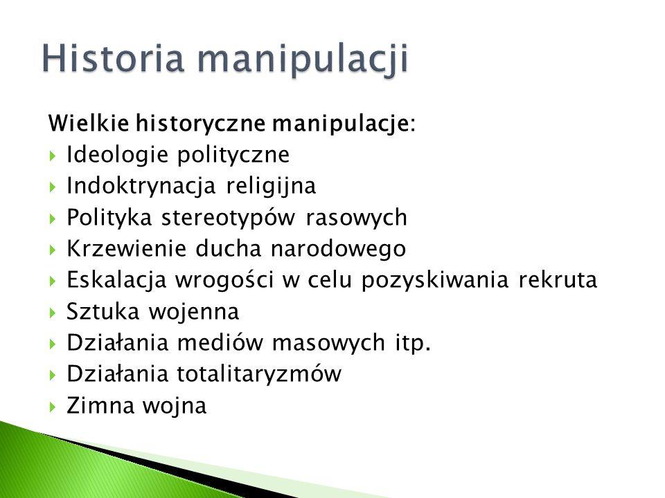 Historia manipulacji Wielkie historyczne manipulacje:
