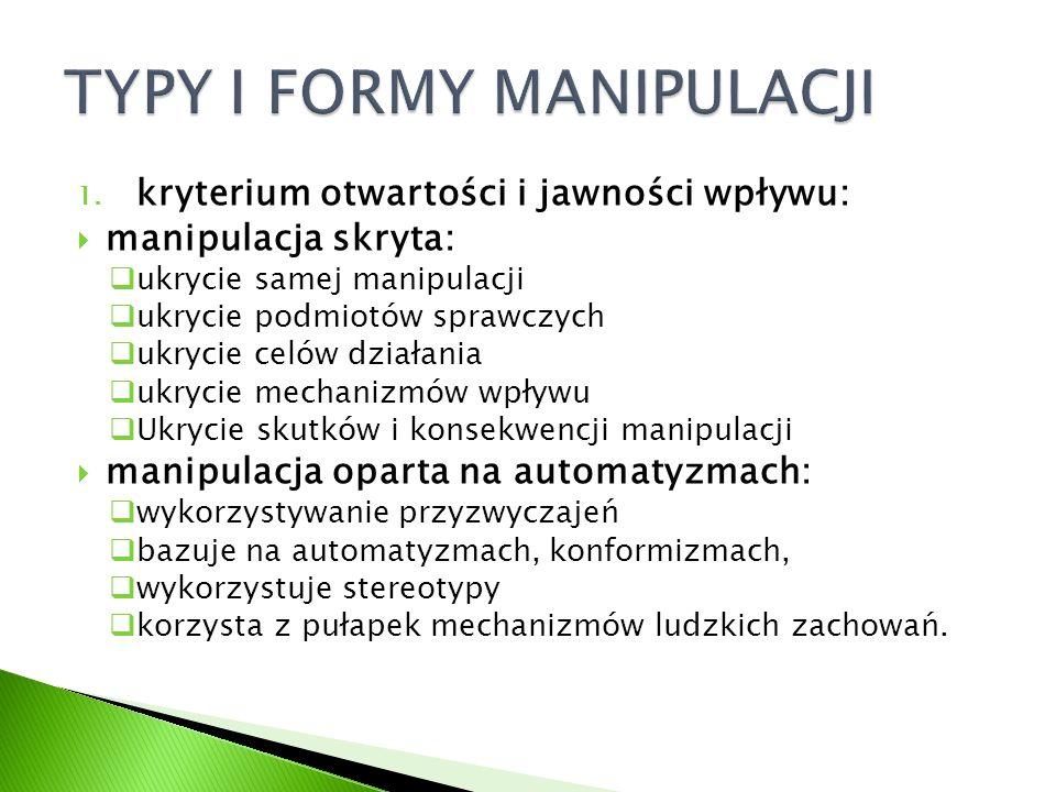 TYPY I FORMY MANIPULACJI