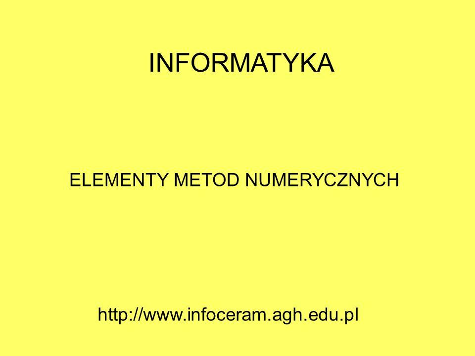 ELEMENTY METOD NUMERYCZNYCH