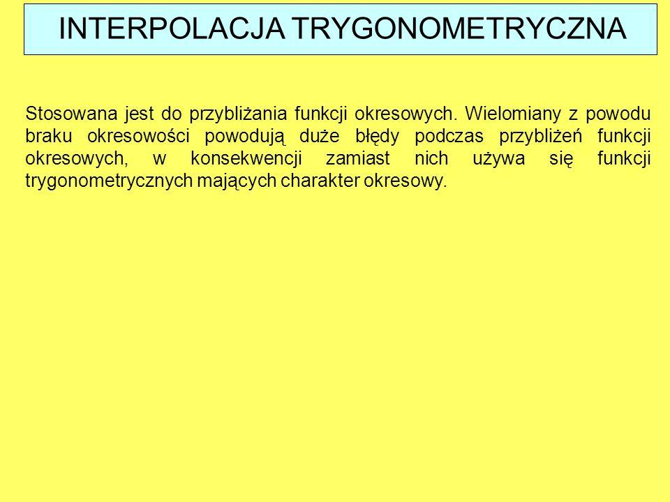 INTERPOLACJA TRYGONOMETRYCZNA