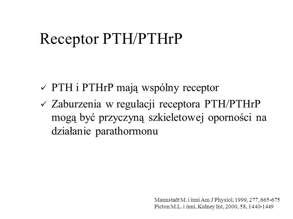 Receptor PTH/PTHrP PTH i PTHrP mają wspólny receptor