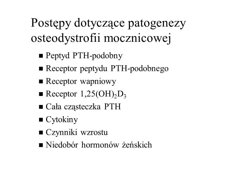 Postępy dotyczące patogenezy osteodystrofii mocznicowej