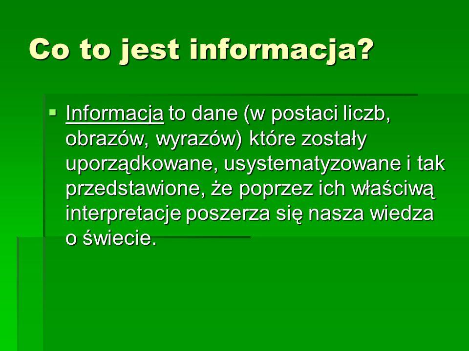 Co to jest informacja