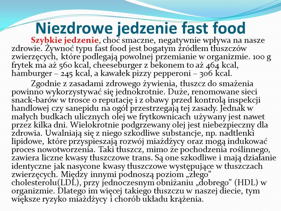 Niezdrowe jedzenie fast food