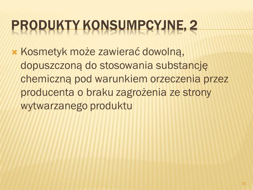 Produkty konsumpcyjne, 2