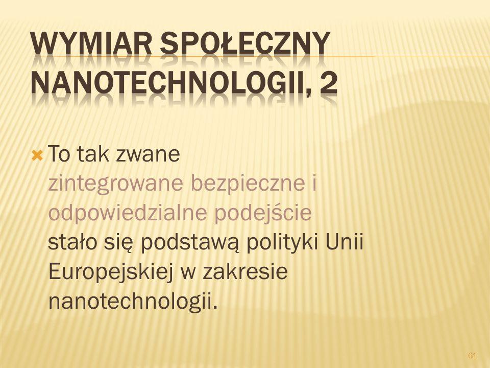Wymiar społeczny nanotechnologii, 2