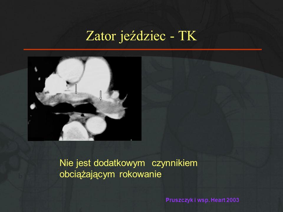 Zator jeździec - TK Nie jest dodatkowym czynnikiem obciążającym rokowanie.