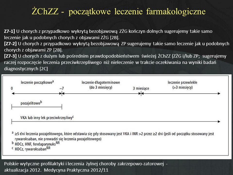 ŻChZZ - początkowe leczenie farmakologiczne