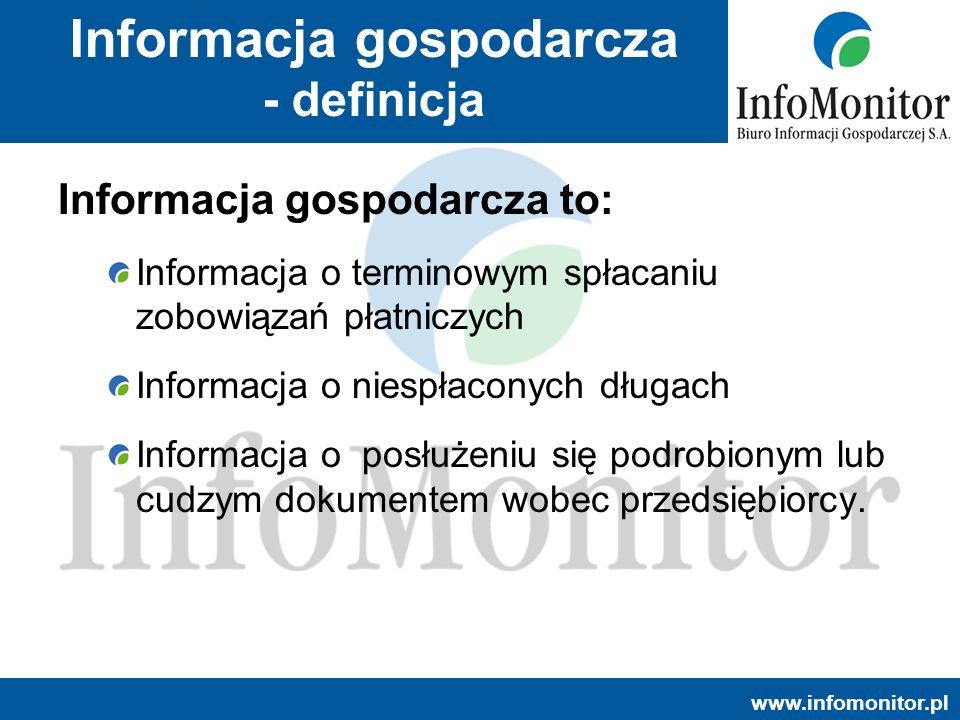 Informacja gospodarcza - definicja