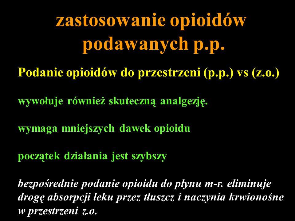zastosowanie opioidów podawanych p.p.