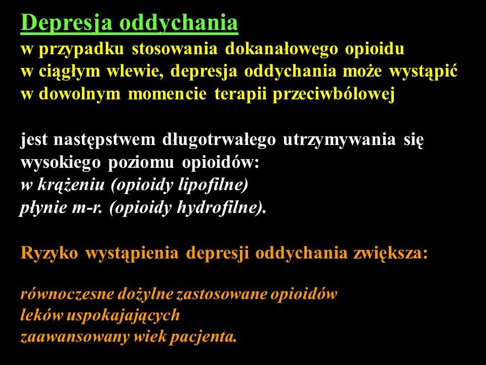 Depresja oddychania w przypadku stosowania dokanałowego opioidu