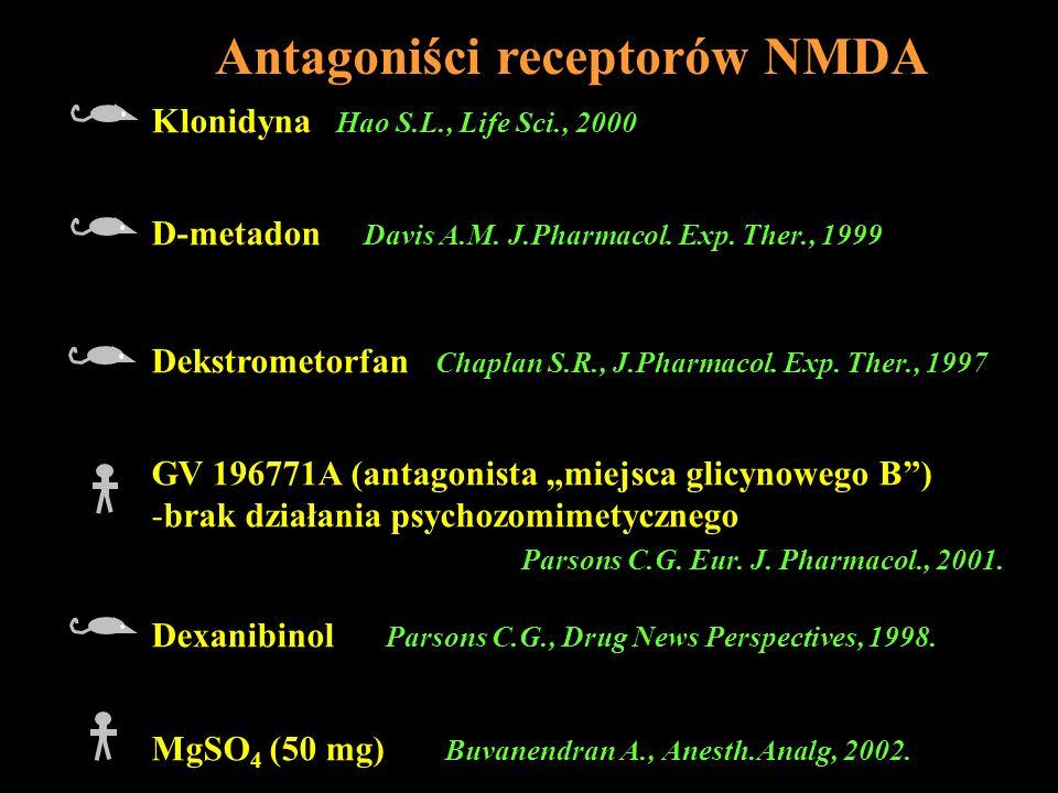 Antagoniści receptorów NMDA