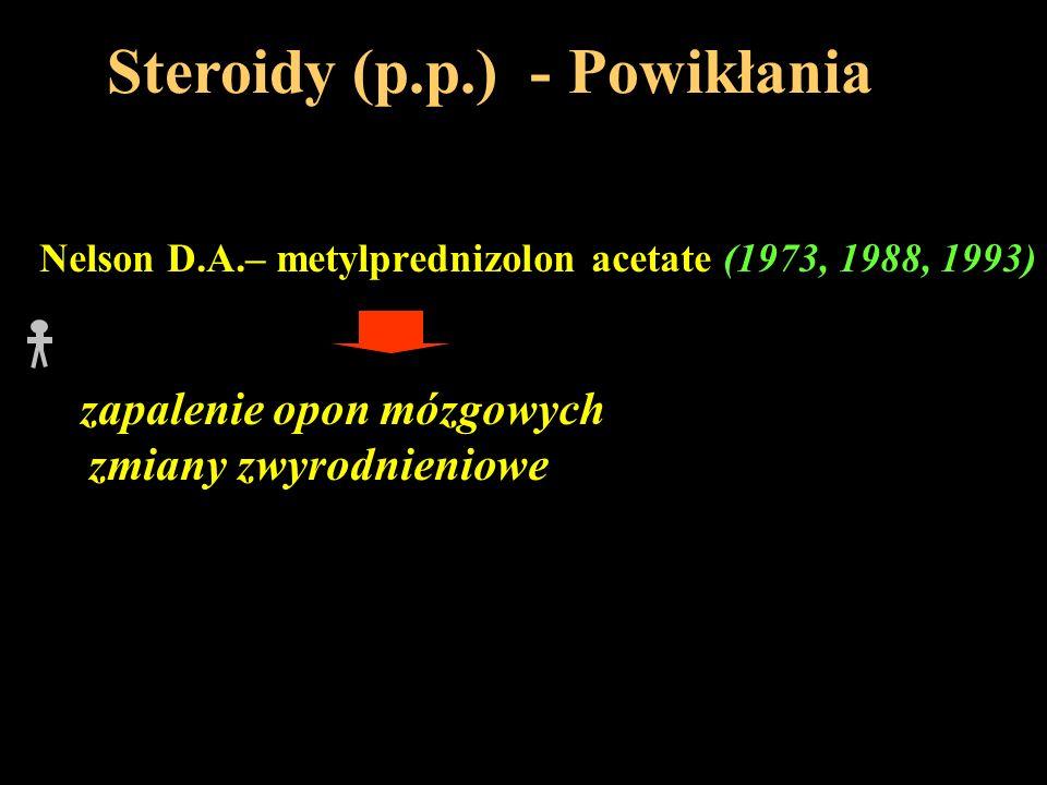 Steroidy (p.p.) - Powikłania