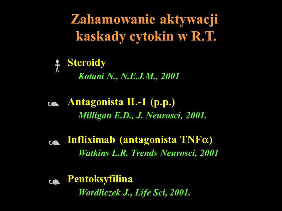 Zahamowanie aktywacji kaskady cytokin w R.T.