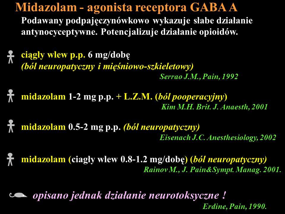 Midazolam - agonista receptora GABA A