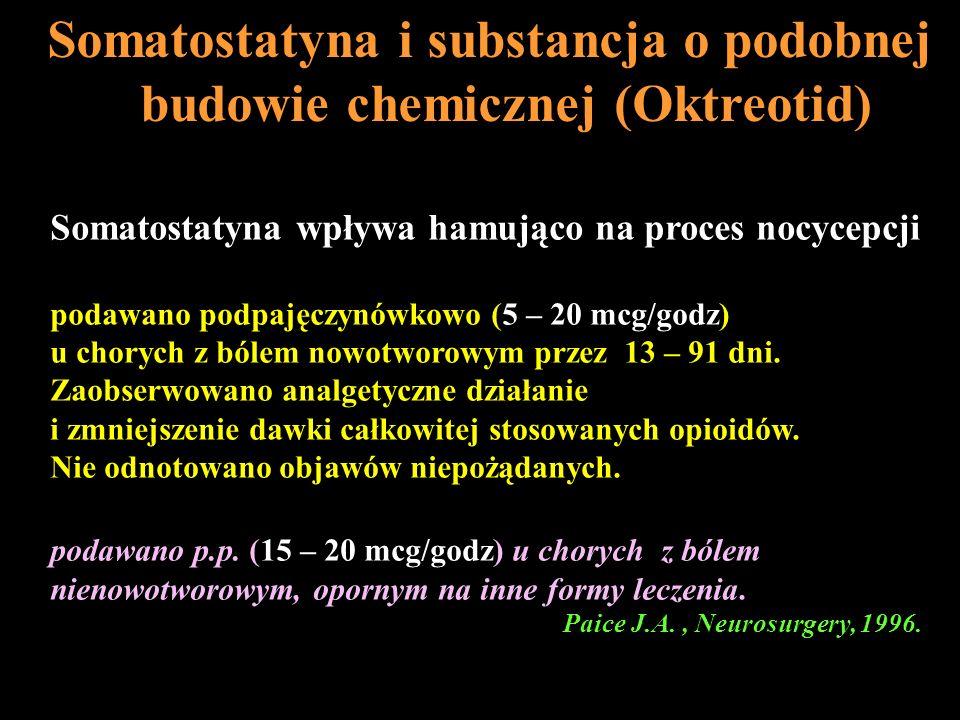 Somatostatyna i substancja o podobnej budowie chemicznej (Oktreotid)
