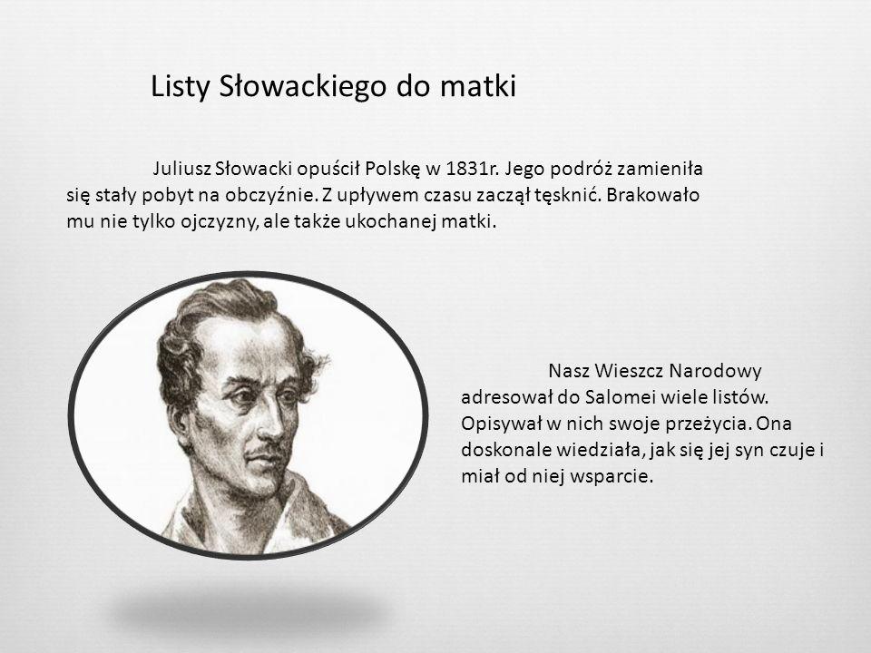 Listy Słowackiego do matki