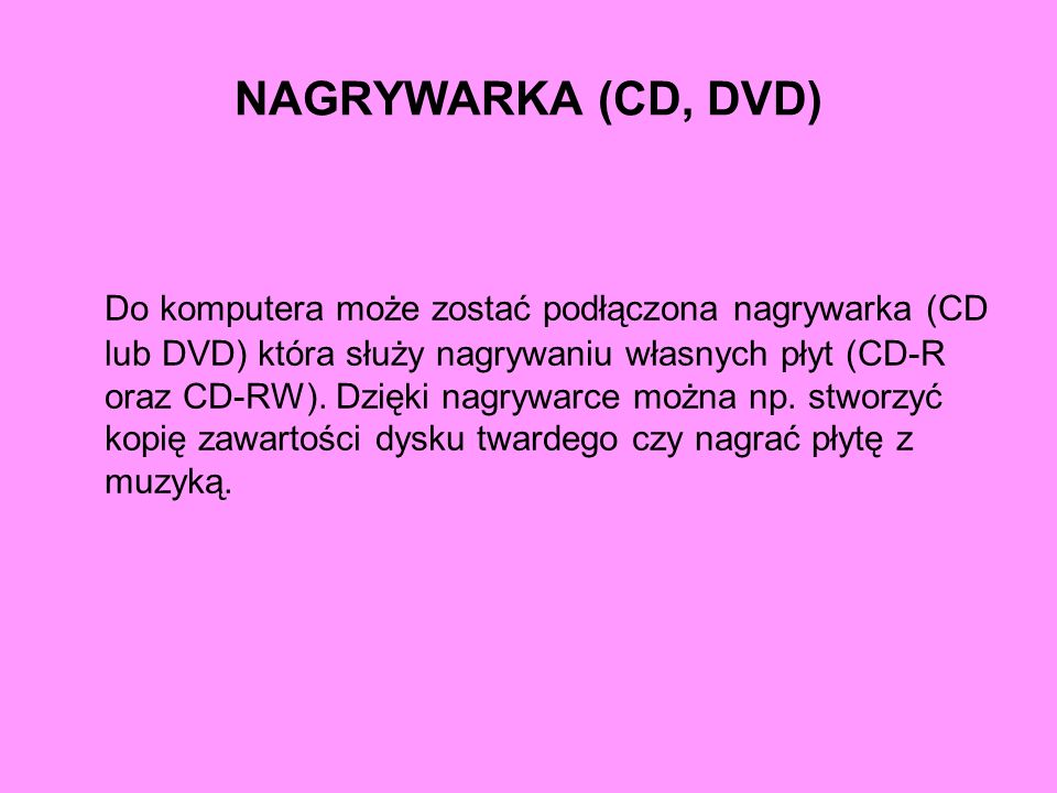 NAGRYWARKA (CD, DVD)