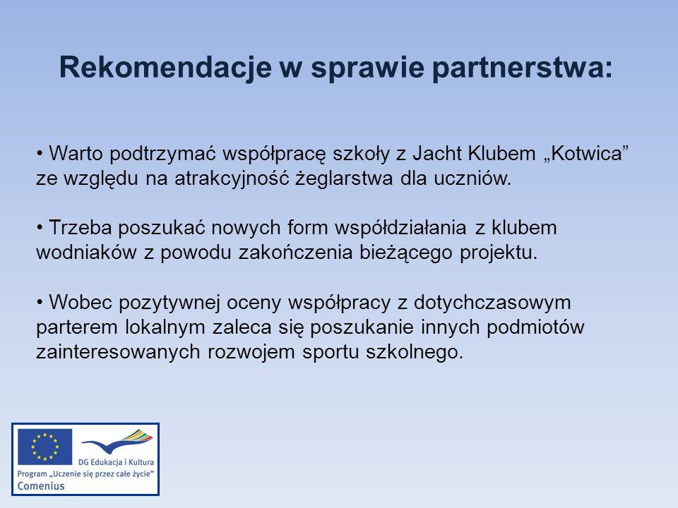 Rekomendacje w sprawie partnerstwa: