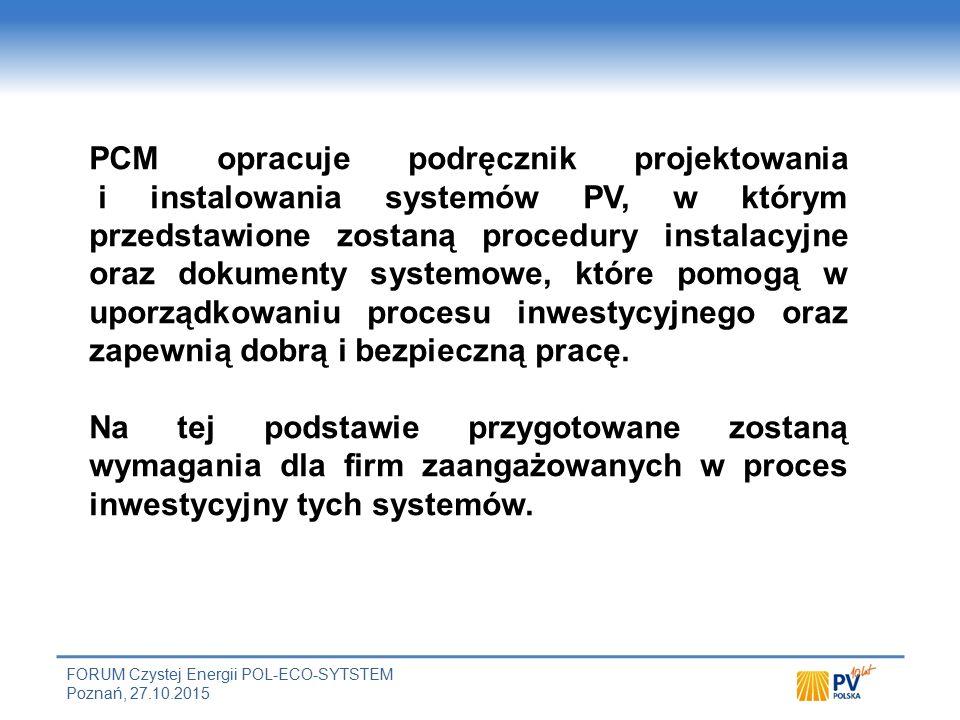 Sposób uzyskania certyfikatu PCM