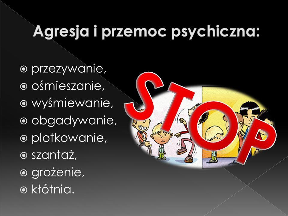 Agresja i przemoc psychiczna: