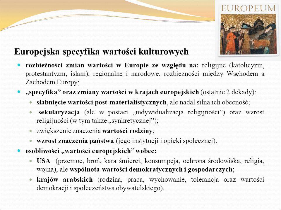 Europejska specyfika wartości kulturowych