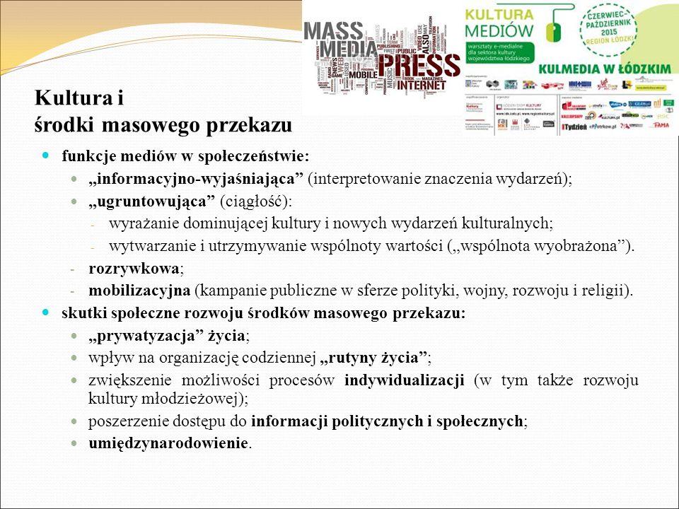 Kultura i środki masowego przekazu
