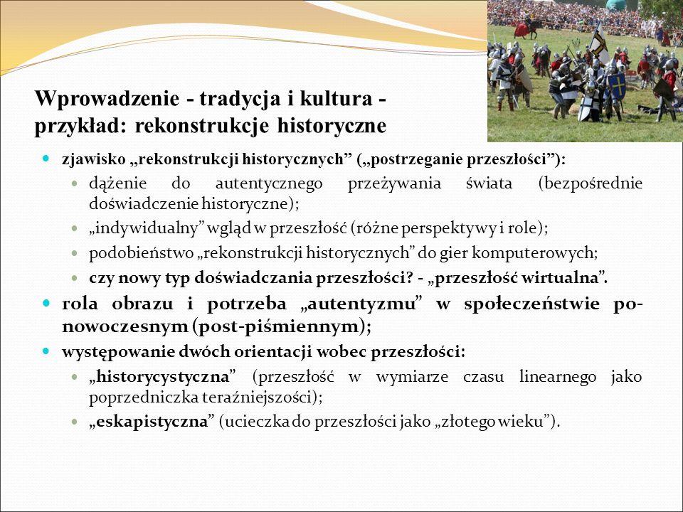 Wprowadzenie - tradycja i kultura - przykład: rekonstrukcje historyczne