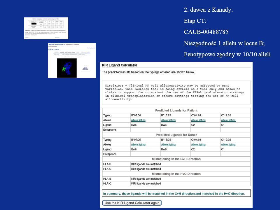 2.dawca z Kanady:Etap CT: CAUB-00488785.