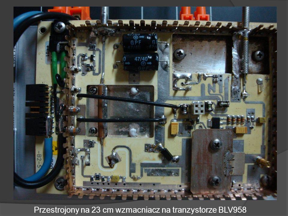 Przestrojony na 23 cm wzmacniacz na tranzystorze BLV958