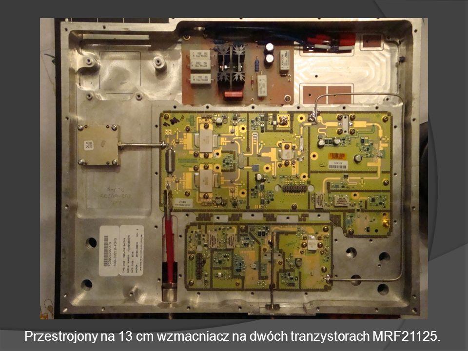 Przestrojony na 13 cm wzmacniacz na dwóch tranzystorach MRF21125.