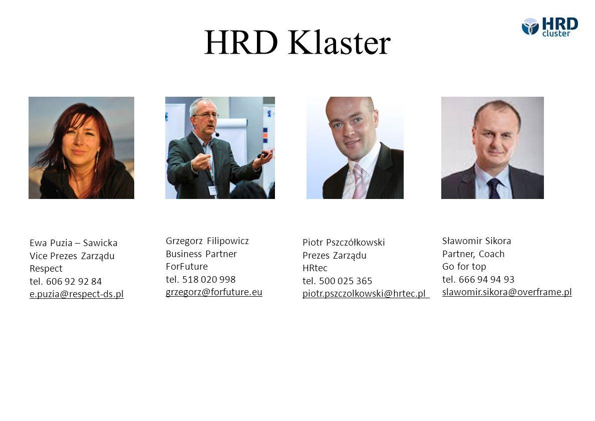 HRD Klaster Ewa Puzia – Sawicka Vice Prezes Zarządu Respect tel. 606 92 92 84 e.puzia@respect-ds.pl.