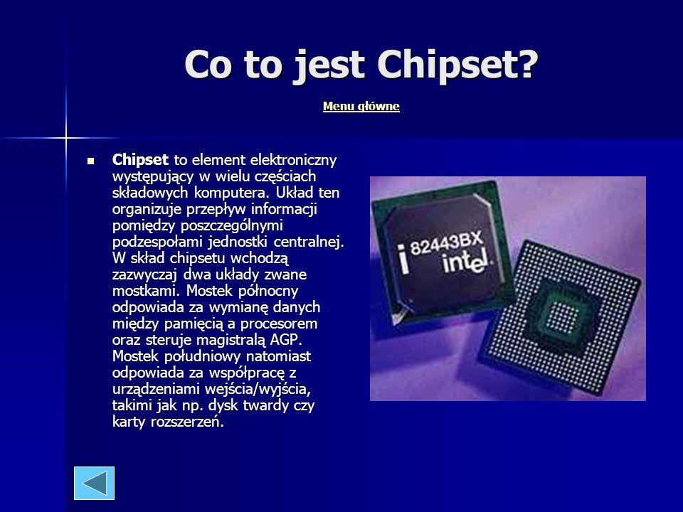 Co to jest Chipset Menu główne