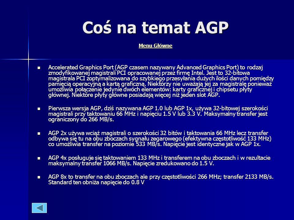 Coś na temat AGP Menu Główne