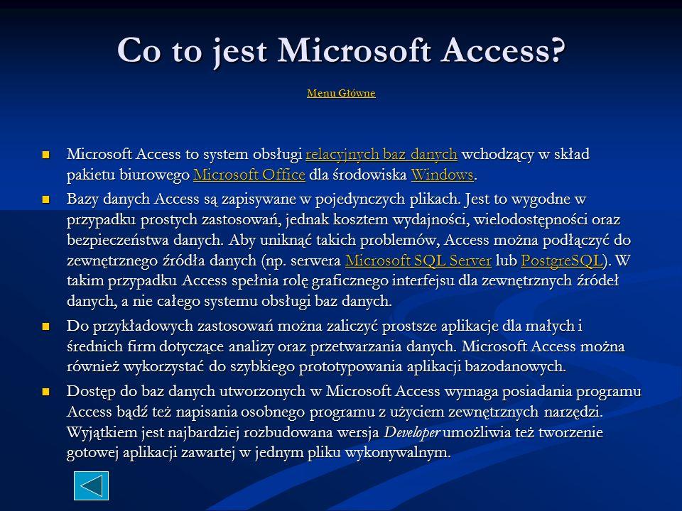 Co to jest Microsoft Access Menu Główne