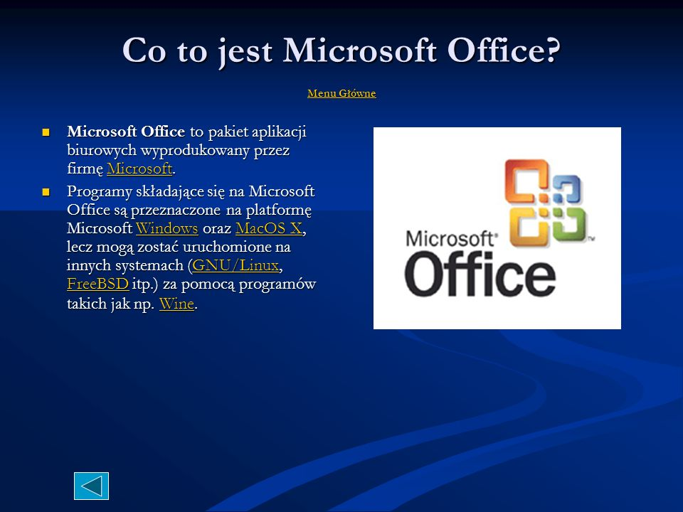 Co to jest Microsoft Office Menu Główne