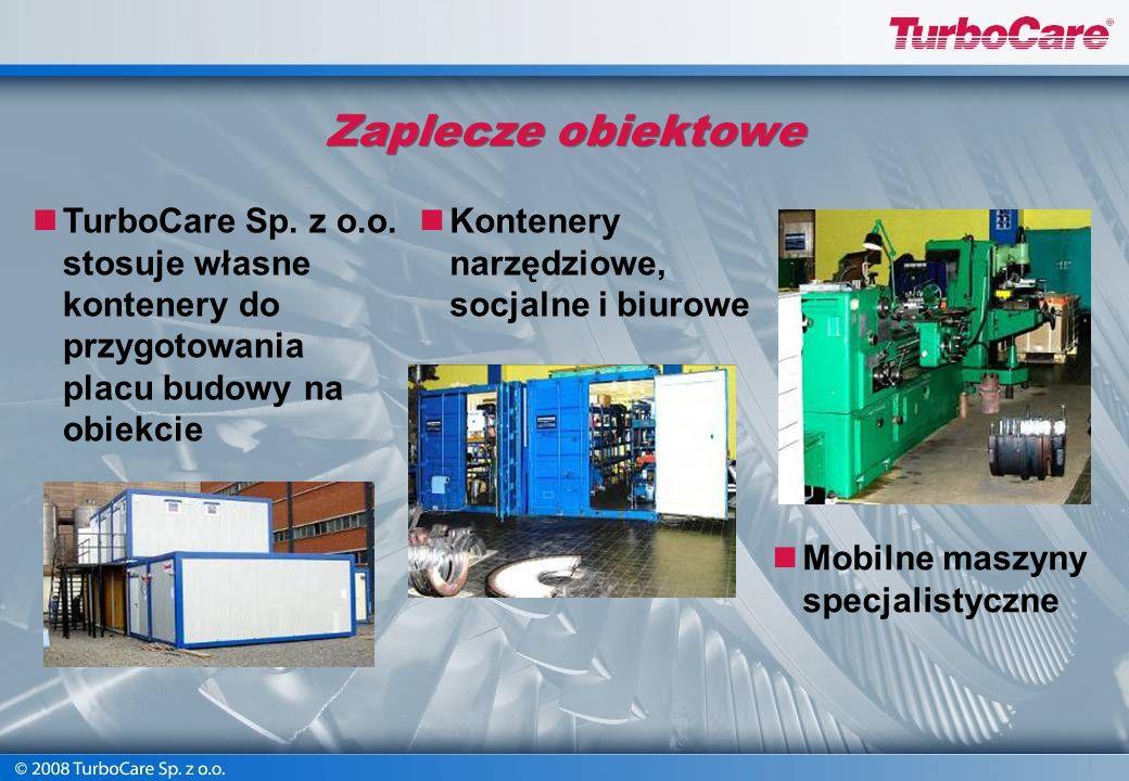 Zaplecze obiektowe TurboCare Sp. z o.o. stosuje własne kontenery do przygotowania placu budowy na obiekcie.