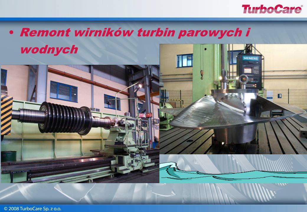 Remont wirników turbin parowych i wodnych