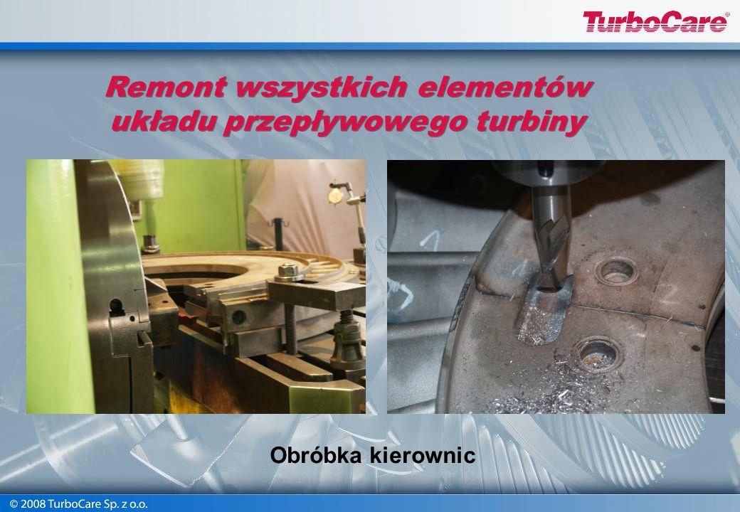 Remont wszystkich elementów układu przepływowego turbiny